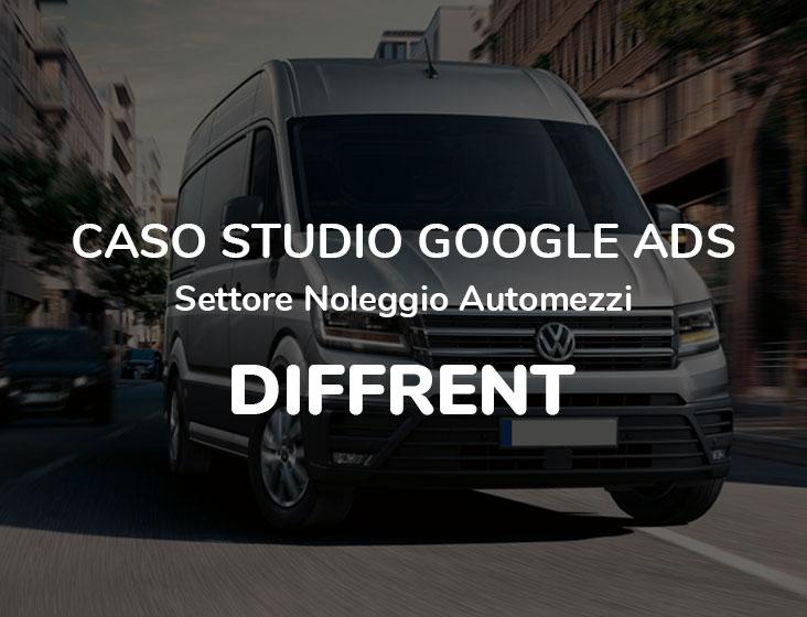 Caso Studio Google Ads Settore Noleggio Automezzi: DIFFRENT